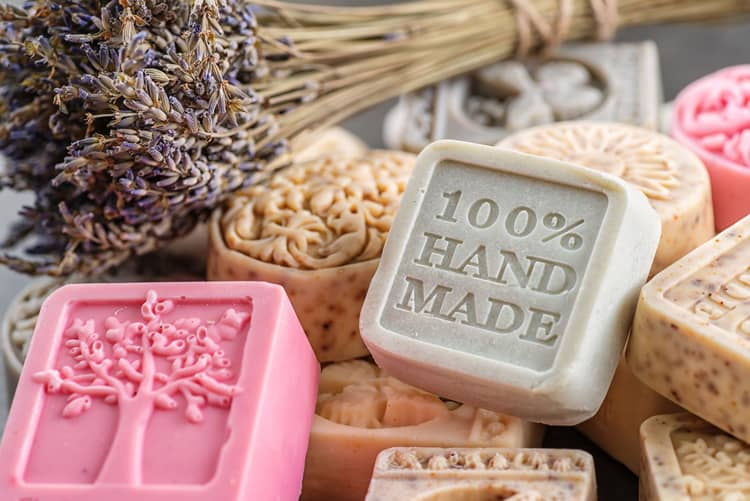 handmade soaps made by a small and local business