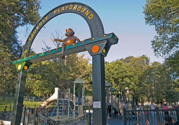 tad pole park and playground in boston