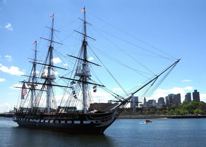 the uss constitution ship in boston