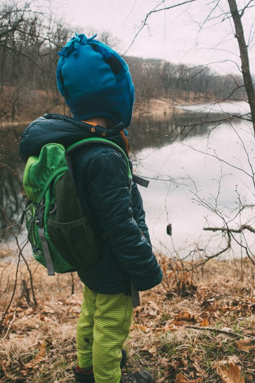 child backpacking for fun