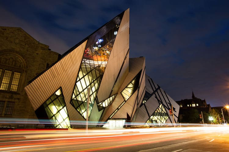 outside of the royal ontario museum