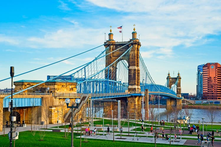 John Roebling Bridge in Cincinnati