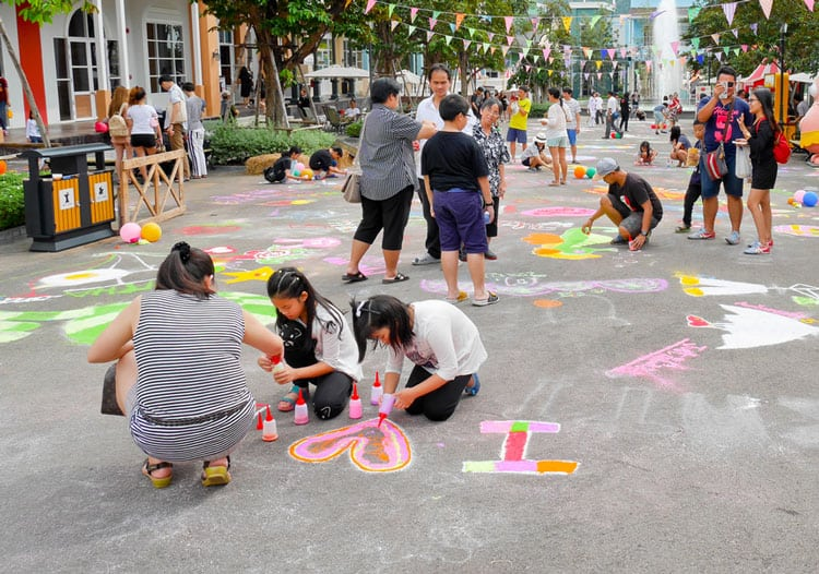 chalk festival for a fun messy vacation