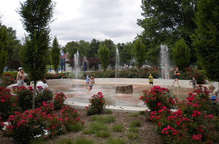 Tilles splash park in St. Louis