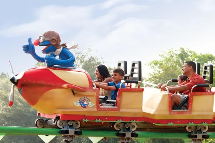 riding roller coaster at busch gardens