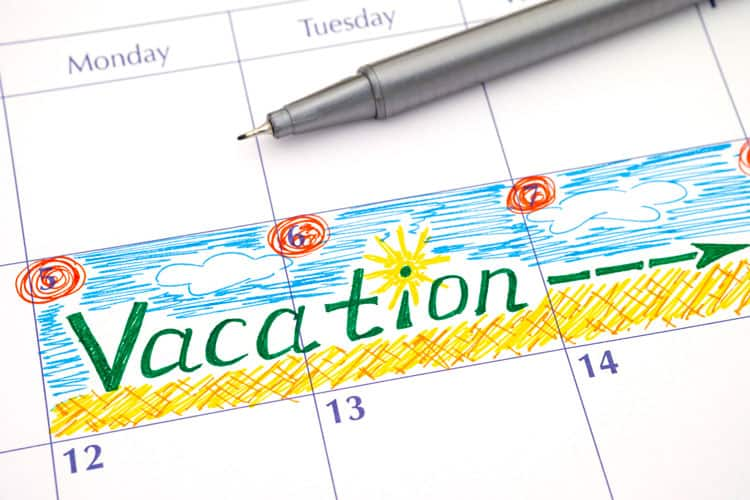 family travel calendar