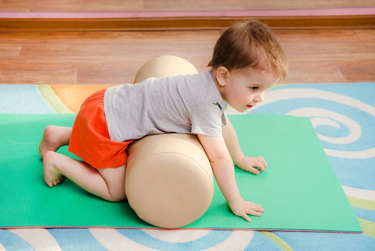 toddler getting physical activity