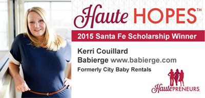 Kerri Couillard Wins HauteHopes Scholarship