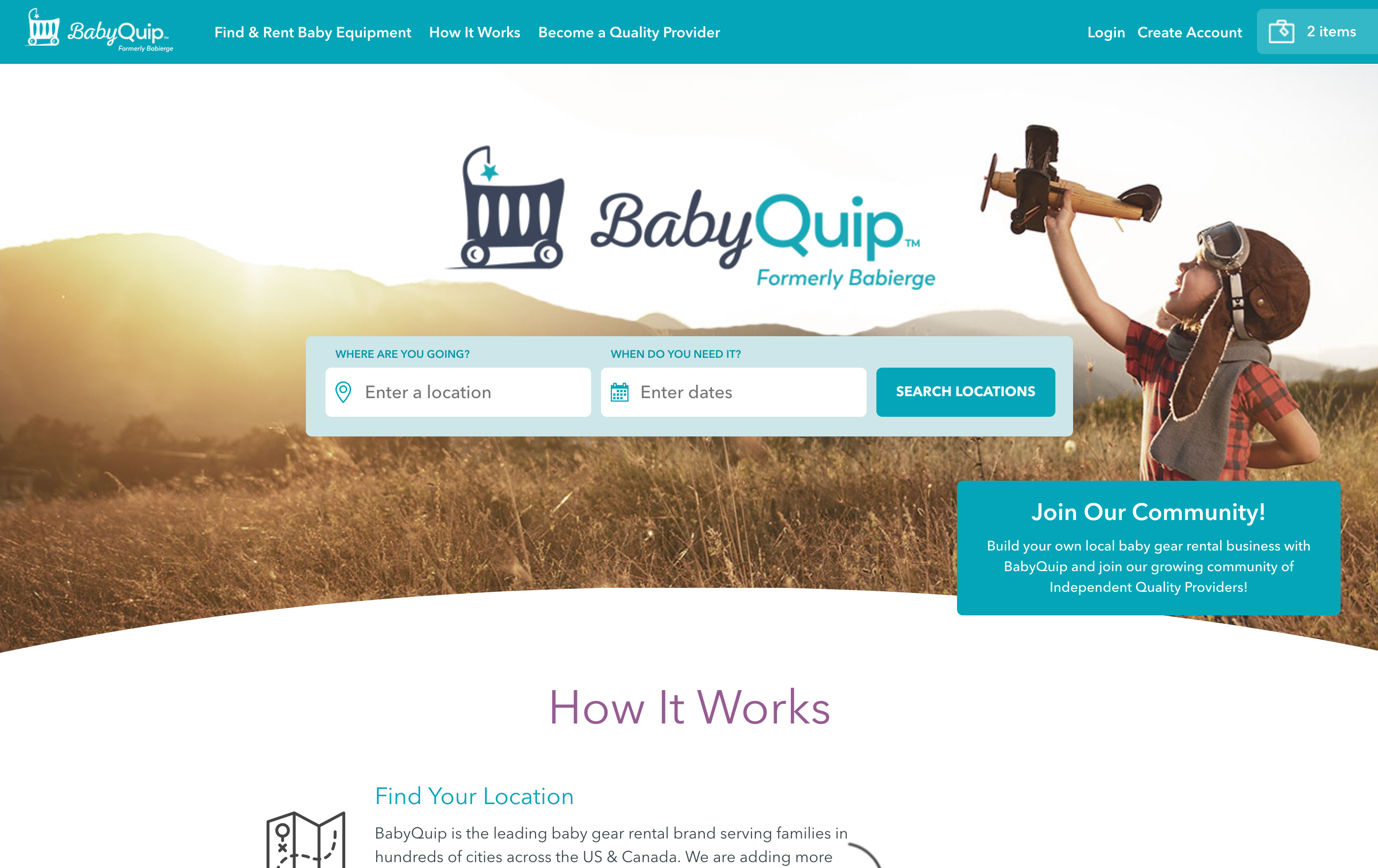 BabyQuip  Home Page