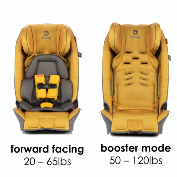 BabyQuip - Baby Equipment Rentals - Diono 3RX as High Back Booster Car Seat - Diono 3RX as High Back Booster Car Seat -