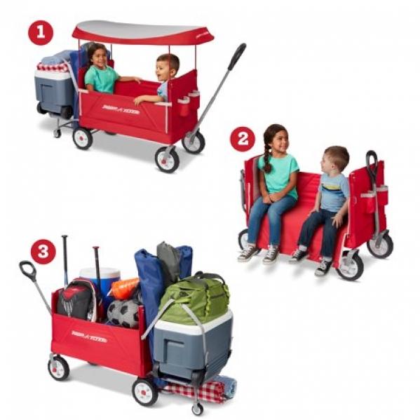 BabyQuip - Baby Equipment Rentals - Folding Wagon 3-in-1 - Folding Wagon 3-in-1 -