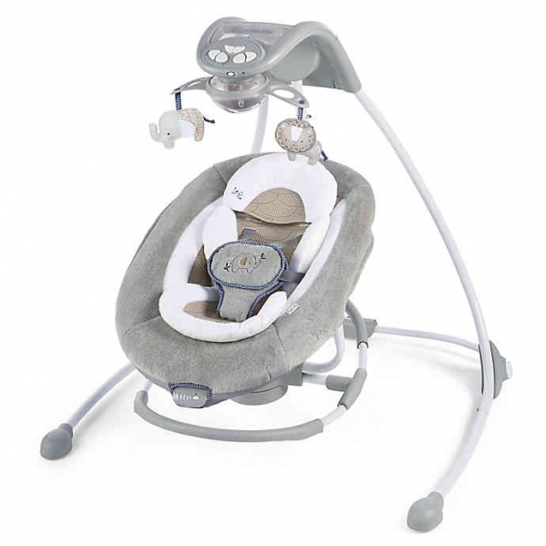 BabyQuip - Baby Equipment Rentals - Ingenuity DreamComfort InLighten Cradling Swing - Ingenuity DreamComfort InLighten Cradling Swing -