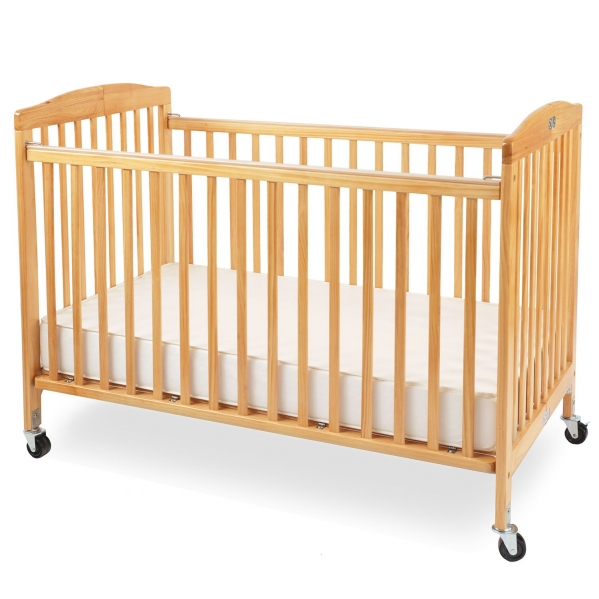LA Baby Full-size Crib with Linens