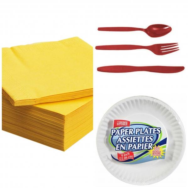 BabyQuip - Baby Equipment Rentals - Paper plates and plastic wear - Paper plates and plastic wear -