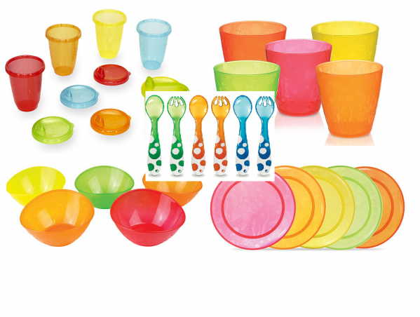 BabyQuip - Baby Equipment Rentals - Dishes plus bibs - Dishes plus bibs -