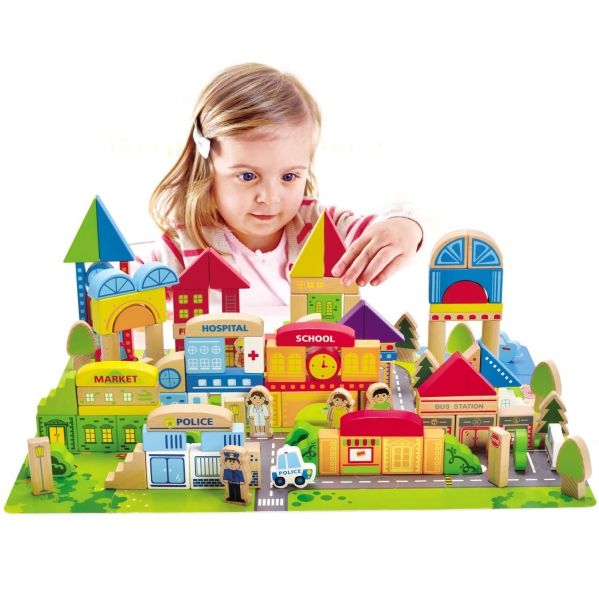 BabyQuip - Baby Equipment Rentals - Hape City Building Block Set - Hape City Building Block Set -
