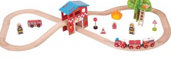 BabyQuip - Baby Equipment Rentals - Wooden train set - Wooden train set -