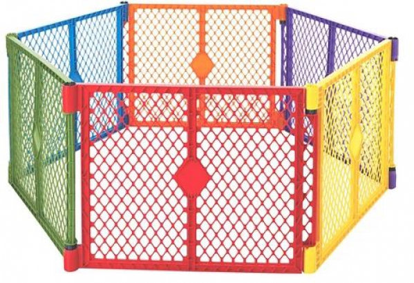 BabyQuip - Baby Equipment Rentals - 6 panel play yard - various arrangements - 6 panel play yard - various arrangements -