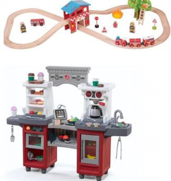 BabyQuip - Baby Equipment Rentals - Manija's Toys - Kitchen + Trains - Manija's Toys - Kitchen + Trains -