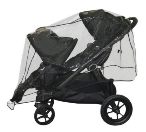 BabyQuip - Baby Equipment Rentals - Rain Cover for tandem stroller - Rain Cover for tandem stroller -