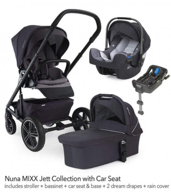 BabyQuip - Baby Equipment Rentals - Nuna Mixx Stroller w/ PIPA Car Seat and Bassinet  - Nuna Mixx Stroller w/ PIPA Car Seat and Bassinet  -
