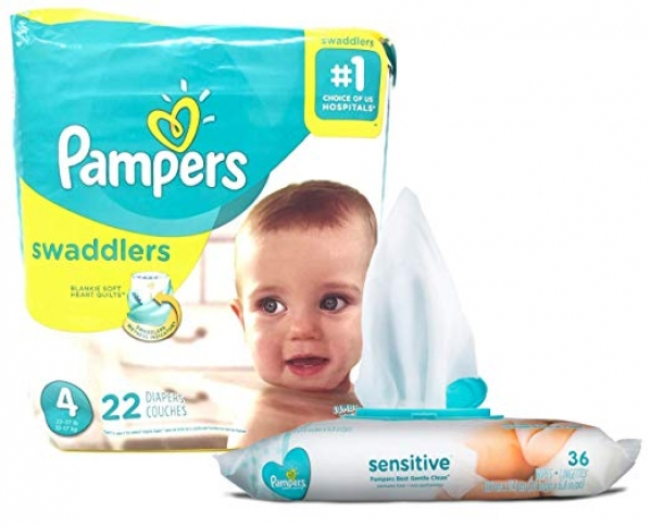 BabyQuip - Baby Equipment Rentals - Pampers and Wipes - Small Package - Pampers and Wipes - Small Package -
