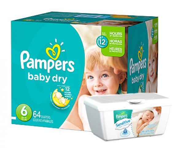 BabyQuip - Baby Equipment Rentals - Pampers and Wipes - Medium Package - Pampers and Wipes - Medium Package -