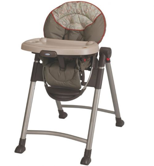 BabyQuip - Baby Equipment Rentals - Graco Swift Fold Full-size High Chair - Graco Swift Fold Full-size High Chair -