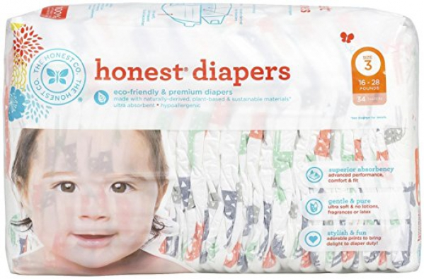 BabyQuip - Baby Equipment Rentals - The Honest Company - Eco-Friendly Diapers 34 count - The Honest Company - Eco-Friendly Diapers 34 count -