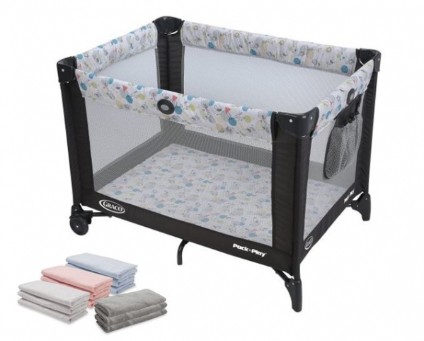 BabyQuip - Baby Equipment Rentals - Pack'n Play with Linens, Bassinet Option - Pack'n Play with Linens, Bassinet Option -