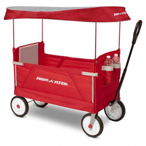 BabyQuip - Baby Equipment Rentals - Radio Flyer 3-in-1 EZ Fold Wagon with Canopy - Radio Flyer 3-in-1 EZ Fold Wagon with Canopy -