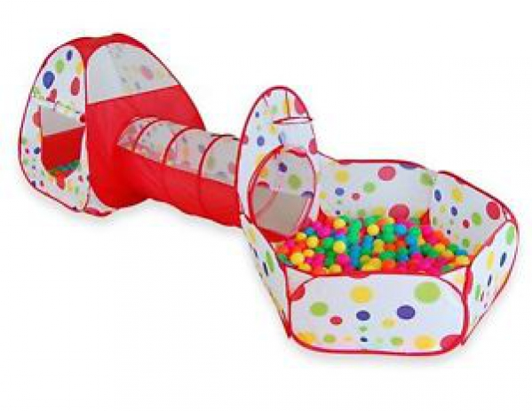 BabyQuip - Baby Equipment Rentals - Play tent with crawl tunnel and ball pit - Play tent with crawl tunnel and ball pit -