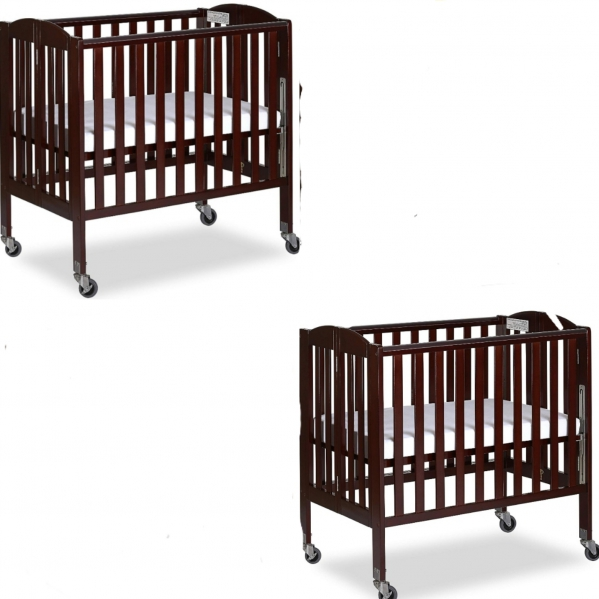 BabyQuip - Baby Equipment Rentals - Twin/sibling crib package with linens and mattress - Twin/sibling crib package with linens and mattress -