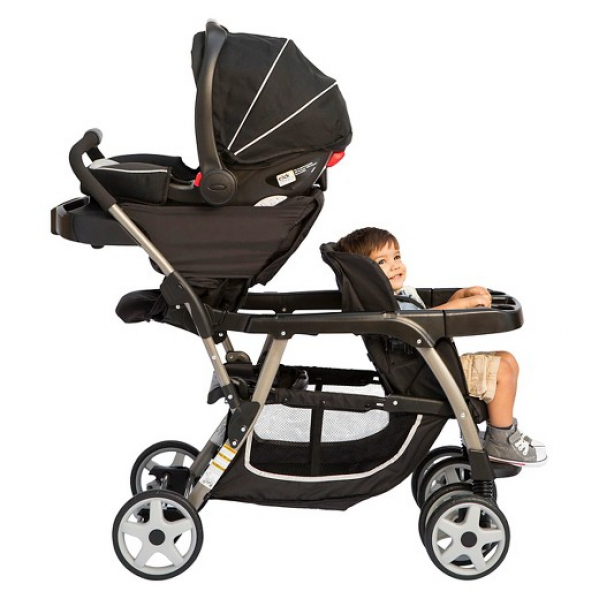 Travel System Double Stoller - 1 Car Seat
