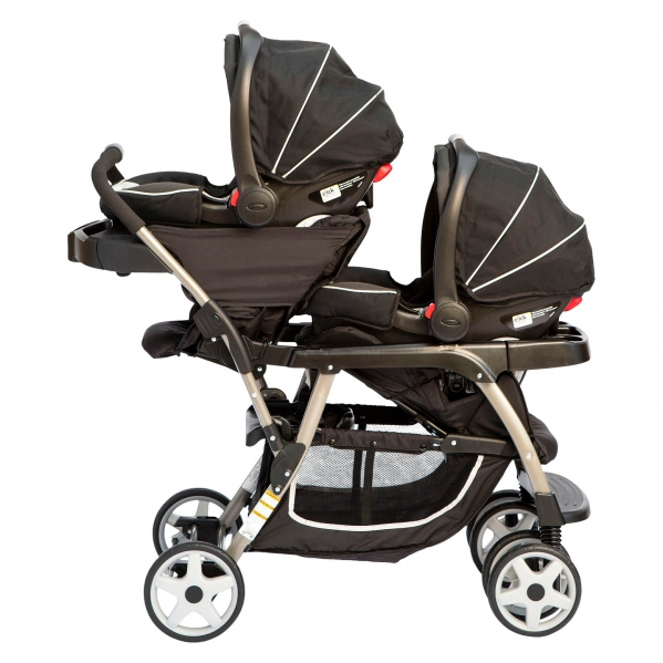 BabyQuip - Baby Equipment Rentals - Travel System Double Stroller - 2 Car Seats - Travel System Double Stroller - 2 Car Seats -