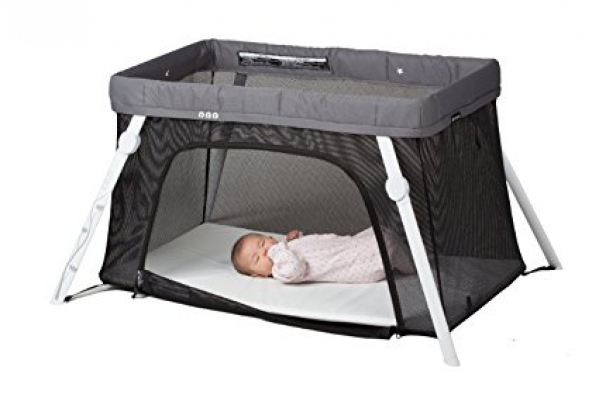 Lotus Travel Crib & Portable Baby Playard w/Linens