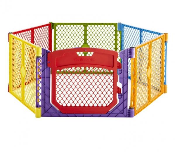BabyQuip - Baby Equipment Rentals - 8 Panel Color Play Yard With Gate - 8 Panel Color Play Yard With Gate -