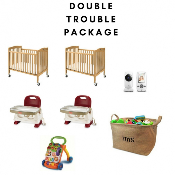 BabyQuip - Baby Equipment Rentals - Double Trouble Package for Twins- Save $6/day - Double Trouble Package for Twins- Save $6/day -