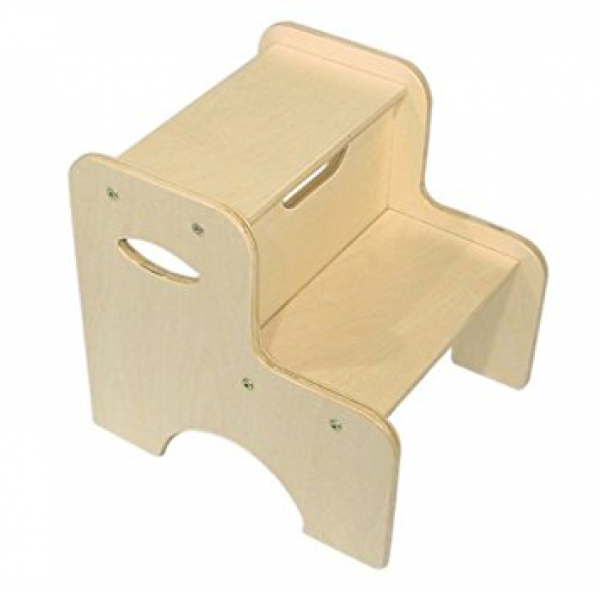 BabyQuip - Baby Equipment Rentals - 2 step Wooden Foot Stool - 2 step Wooden Foot Stool -