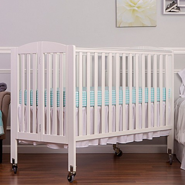 BabyQuip - Baby Equipment Rentals - Full size wooden crib, with Linens - Full size wooden crib, with Linens -