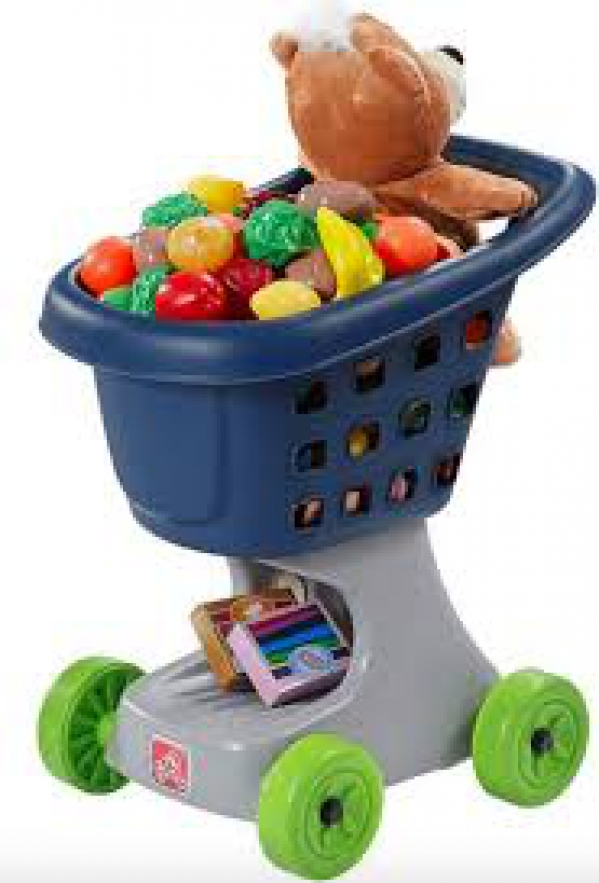 BabyQuip - Baby Equipment Rentals - Toy Shopping Cart with Food - Toy Shopping Cart with Food -
