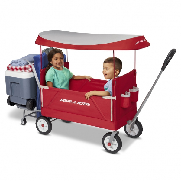 BabyQuip Baby Equipment Rentals - Radio Flyer 3-in-1 Tailgater Wagon with Canopy - Mandy Ischy - Dallas, Texas