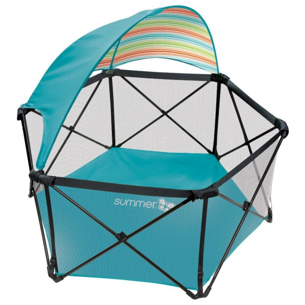 BabyQuip - Baby Equipment Rentals - Summer Infant Pop 'n Play Playard with Canopy - Summer Infant Pop 'n Play Playard with Canopy -