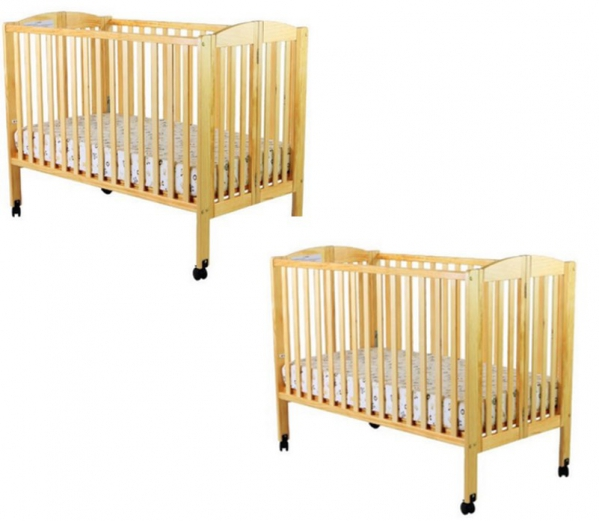 BabyQuip - Baby Equipment Rentals - Twin Package: two full size Cribs-Organic Linens - Twin Package: two full size Cribs-Organic Linens -