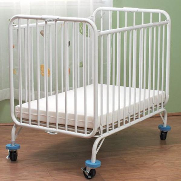 BabyQuip - Baby Equipment Rentals - LA Baby Deluxe metal Folding crib - LA Baby Deluxe metal Folding crib -