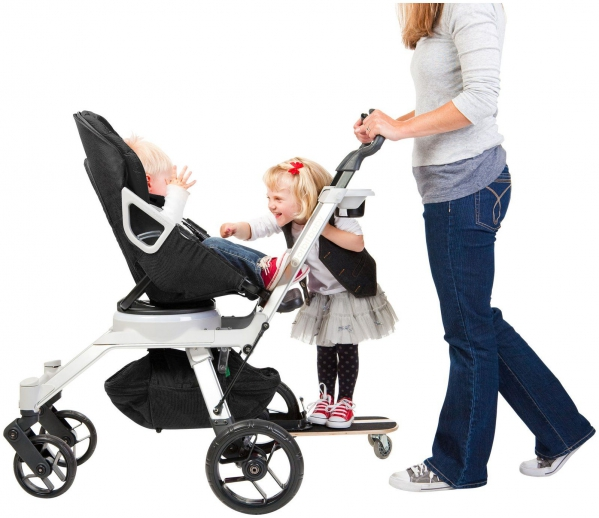 Double Stroller with Sidekick