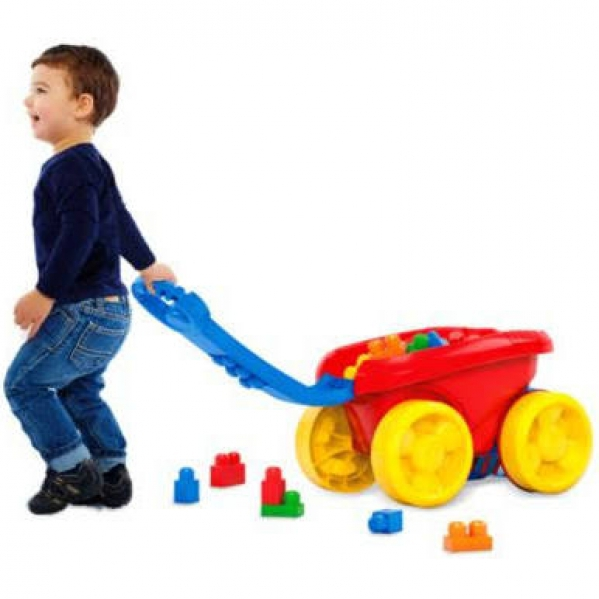 BabyQuip - Baby Equipment Rentals - Building Blocks with Wagon - Building Blocks with Wagon -