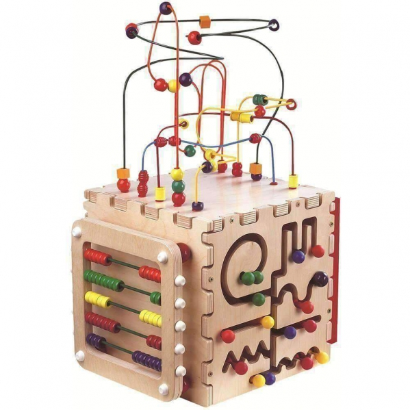 BabyQuip - Baby Equipment Rentals - Wooden Play Cube - Wooden Play Cube -