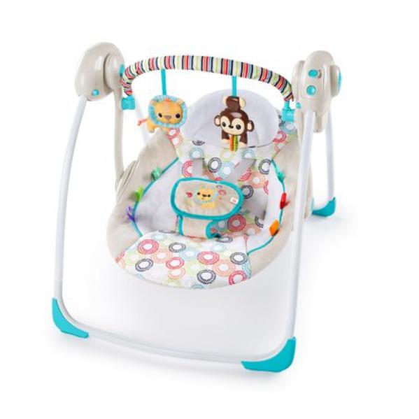 BabyQuip - Baby Equipment Rentals - Petite Jungle Portable Swing by Bright Starts - Petite Jungle Portable Swing by Bright Starts -