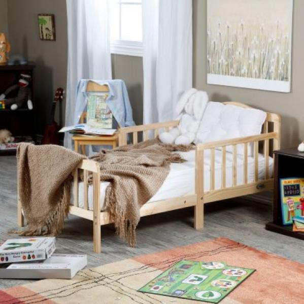 BabyQuip - Baby Equipment Rentals - Natural wooden toddler bed - Natural wooden toddler bed -